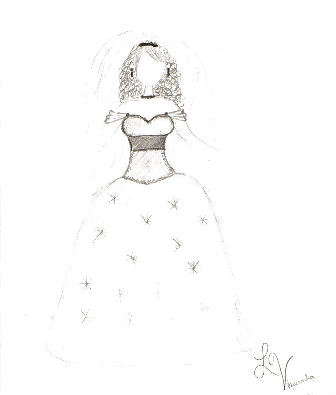 Design Dress Drawings CLICK TO ENLARGE PICTURES